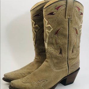 Corral Leather Snip Toe Cross Cowboy Western Boots